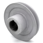 Hustler 783761 V-Groove Drive Pulley - 4.5'' Dia. - 1 1/8'' Bore - Steel