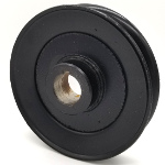 Kunz: 241010, V-Groove Drive Pulley - 5.25'' Dia. - 1'' Bore - Steel