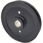 Jacobsen: 198027; Schiller Grounds Care: 198027, V-Groove Drive Pulley - 6'' Dia. - 1'' Bore - Steel