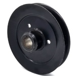 Toro 1-413424 Exmark 1-413424 V-Groove Drive Pulley - 6.25'' Dia. - 25mm Bore - Steel