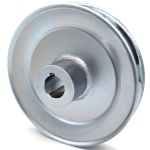 Grasshopper 415896 V-Groove Drive Pulley - 6.5'' Dia. - 25mm Bore - Steel