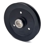 Toro 116-0675 Exmark 116-0675 V-Groove Drive Pulley - 6.75'' Dia. - 1'' Bore - Steel