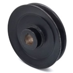 Toro 116-0186 Exmark 116-0186 V-Groove Drive Pulley - 6.75'' Dia. - 25mm Bore - Steel