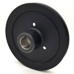Hustler 602755 V-Groove Drive Pulley - 7'' Dia. - 1 1/8'' Bore - Steel