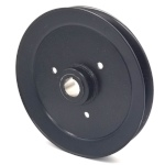 Toro 103-2795 Exmark 103-2795 V-Groove Drive Pulley - 8'' Dia. - 25mm Bore - Steel