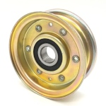 Flat Idler Pulley - 2.75'' Flat Dia. - 5/8'' Bore - Steel