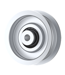 Jacobsen: 38010-2A; Schiller Grounds Care: 38010-2A, Flat Idler Pulley - 2.75'' Dia. - 3/8'' Bore - Steel