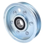 Flat Idler Pulley - 3.25'' Flat Dia. - 5/8'' Bore - Steel