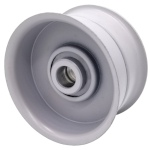 Flat Idler Pulley - 3.25'' Dia. - 5/8'' Bore - Steel