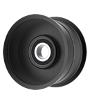 Brown Products, Inc.: 12-22-2A, Flat Idler Pulley - 3.25'' Dia. - 3/8'' Bore - Steel