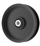 Jacobsen: 83-029; Schiller Grounds Care: 83-029, Flat Idler Pulley - 4'' Dia. - 3/8'' Bore - Steel