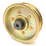 Scag 484128 Flat Idler Pulley - 4'' Flat Dia. - 3/8'' Bore - Steel