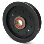 Ferris 5021002 Flat Idler Pulley - 4'' Flat Dia. - 17mm Bore - Steel