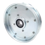 Flat Idler Pulley - 5'' Dia. - 5/8'' Bore - Steel