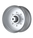 Jacobsen: 2721541; Schiller Grounds Care: 2721541, Flat Idler Pulley - 5'' Dia. - 3/8'' Bore - Steel