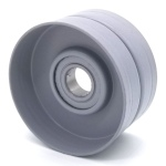 Flat Idler Pulley - 2.75'' Dia. - 5/8'' Bore - Steel
