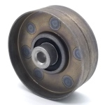 Turfco 663408 New Holland 763944 Flat Idler Pulley - 3'' Flat Dia. - 3/8'' Bore - Steel