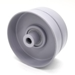 Flat Idler Pulley - 3.25'' Dia. - 3/8'' Bore - Steel