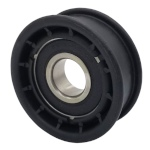 Flat Idler Pulley - 2'' Flat Dia. - 17mm Bore - Plastic