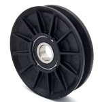 V-Groove Idler Pulley - 2.5'' Dia.- 17mm Bore - Plastic