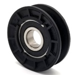 V-Groove Idler Pulley - 4'' Dia.- 17mm Bore - Plastic
