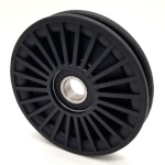 plastic wire pulley designed for ziplining or exercise equipment