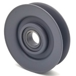 V-Groove Idler Pulley - 3'' Dia.- 5/8'' Bore - Steel