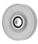 V-Groove Idler Pulley - 3.5'' Dia.- 5/8'' Bore - Steel