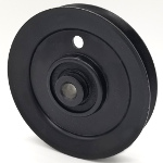 MTD 756-1208 Cub Cadet 756-1208 V-Groove Idler Pulley - 4'' Dia.- 3/8'' Bore - Steel