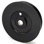 Toro 1-603805 Exmark 1-603805 V-Groove Idler Pulley - 5'' Dia.- 17mm Bore - Steel