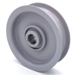 Flat Idler Pulley - 3.5'' Dia. - 5/8'' Bore - Steel