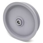 Flat Idler Pulley - 6'' Dia. - 5/8'' Bore - Steel