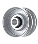 Crary: 31770-00, Flat Idler Pulley - 2'' Dia. - 3/8'' Bore - Steel