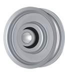 Flat Idler Pulley - 2'' Dia. - 3/8'' Bore - Steel