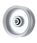 Flat Idler Pulley - 3'' Dia. - 3/8'' Bore - Steel