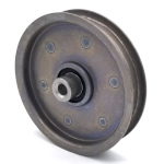 Flat Idler Pulley - 4'' Dia. - 3/8'' Bore - Steel