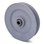 V-Groove Idler Pulley - 4'' Dia.- 3/8'' Bore - Steel