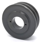 Double V-Groove Drive Pulley - 4.5'' Dia. - 1 5/8'' Bore - Cast Iron