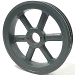 Double V-Groove Drive Pulley - 6.75'' Dia. - 1 5/8'' Bore - Cast Iron