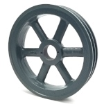 Double V-Groove Drive Pulley - 9.75'' Dia. - 1 5/8'' Bore - Cast Iron