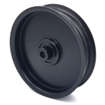 MTD 756-04511A Flat Idler Pulley - 5'' Dia. - 3/8'' Bore - Steel