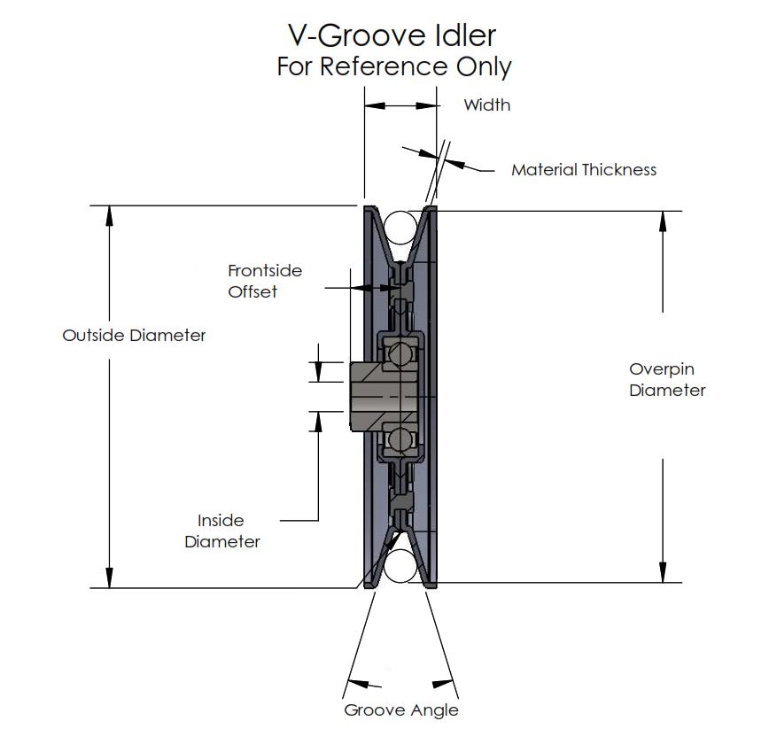 John Deere TCA17540 V-Groove Idler Pulley - 6'' Dia - 3/4'' Bore - Steel