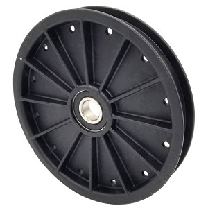 Flat Idler Pulley - 6'' Flat Dia. - 17mm Bore - Plastic
