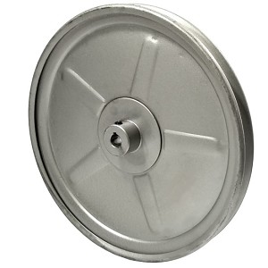 V-Groove Drive Pulley - 10'' Dia. - 1/2'' Bore - Steel