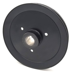 Hustler 602859 V-Groove Drive Pulley - 8'' Dia. - 1'' Bore - Steel