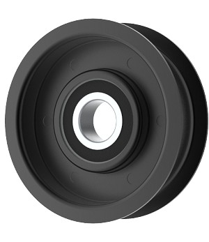 Flat Idler Pulley - 2.75'' Flat Dia. - 17mm Bore - Steel