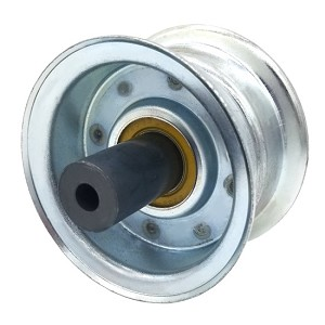 Flat Idler Pulley - 2.75'' Flat Dia. - 5/16'' Bore - Steel