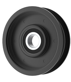 Flat Idler Pulley - 3'' Flat Dia. - 17mm Bore - Steel