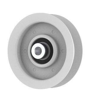 Flat Idler Pulley - 3'' Flat Dia. - 3/8'' Bore - Steel