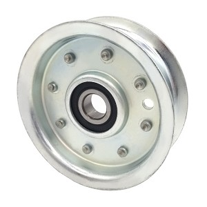 Flat Idler Pulley - 3.5'' Flat Dia. - 5/8'' Bore - Steel